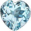 Sky Blue Topaz in Grade AAA in Heart Cut