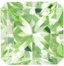 So Bright Minty Green Radiant Cut Tourmaline Gem, 6.9 mm, 1.64 carats