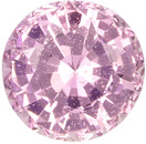 Soft Pink Untreated Sapphire Loose Gem in Round Cut in Soft Pink Color , 6.64mm 1.51 carats - With GIA Certificate