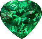 Special Vibrant Brazilian Emerald Loose Gem in Heart Cut, 9.8 x 9.2 mm, 2.85 Carats