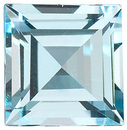 Loose Genuine Top Quality Step Shape Sky Blue Topaz Gemstone Grade AAA, 6.00 mm in Size, 1.42 Carats