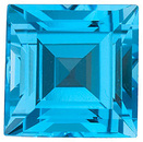 Top Quality Loose Standard Size Step Shape Swiss Blue Topaz Grade AAA, 6.00 mm in Size, 1.42 Carats