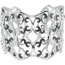Sterling Silver 1 1/3 Carat Total Weight Diamond Cuff Bracelet