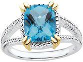 Sterling Silver Swiss Blue Topaz Ring