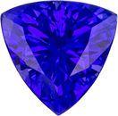 Striking Loose Trillion Cut Tanzanite Gem in Stunning Color, 6.5 mm, 0.97 carats