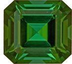 Striking Octagon Bold Green Colored Tourmaline Gemstone, 7.8mm, 2.24 carats