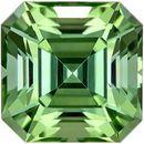 Stunning Asscher Cut Mint Tourmaline Loose Stone for Sale in 7.7 mm, 2.78 carats