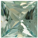 Stunning No Heat Aquamarine Gem in Huge Princess Cut, Watery Light Greenish Bluish Color, 18.1 x 18.0 mm, 23.59 carats