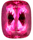 Stunning Pink/Purple Natural Tourmaline Gemstone for SALE, Antique Cushion Cut, 14 x 11.3 mm, 8.91 carats