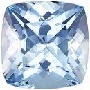 Super Cushion Cut Aquamarine Loose Gem, Rich Blue Color in 8.9 mm, 2.68 carats