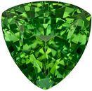 Super Green Tourmaline Gemstone in Trillion Cut, Medium Mint Green, 6.8 mm, 1.36 carats