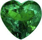 Super Lively Columbian Emerald Loose Gem in Unique Heart Cut, Vibrant Green Color, 10.5 x 11.1 mm, 3.89 carats