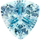 Super Lively Trillion Cut Aquamarine Loose Gem, Blue Tinged Green, 8 mm, 1.5 carats