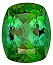 Superior Brilliance - Luminous Green Tourmaline Genuine Gemstone for SALE,  Antique Cushion Cut, 15.2 x 12.2 mm, 10.41 carats