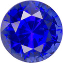 Swarovski Gems Bright Blue Round Genuine Blue Sapphire  in Grade FINE