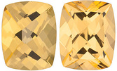 SWAROVSKI GEMS HONEY PASSION TOPAZ Antique Cushion Cut Gems