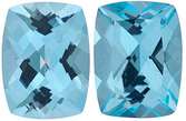 SWAROVSKI GEMS ICE BLUE PASSION TOPAZ Antique Cushion Cut Gems