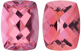 SWAROVSKI GEMS PINK PASSION TOPAZ Antique Cushion Cut Gems