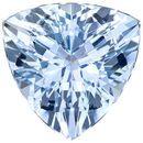 Tons of Life on Aquamarine Loose Gemstone in Trillion Cut, Vivid Pure Blue, 8.9 mm, 2.13 carats
