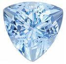 Trillion Cut Aquamarine Loose Gemstone in Rich Pure Blue Color in 8.0 mm, 1.78 carats