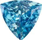 Trillion Cut Blue Zircon Loose Gem in Vivid Teal Blue, 9.7 mm, 3.78 carats
