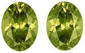 Unbelievable Pair of Unheated Gorgeous Yellowish Green Demantoid Garnet Gems, Oval Cut, 8.1 x 6 mm, 3.20 carats