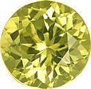 Unheated Lively Bright Round Yellowish Green Grossular Garnet 10.0 mm, 4.33 carats
