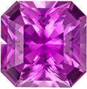 Unheated Vivid Rich Asscher Cut Pink Sapphire Gem, GIA Certified in Radiant Cut, 7.1 x 7.09 x 4.34 mm, 1.76 carats