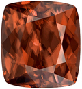 Unique Large Brown Zircon Gemstone in Cushion Cut, Rosey Brown, 12.6 x 11.5 mm, 14.6 carats