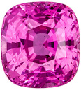 Untreated 2.15 carats - GIA Certified Pink Sapphire Loose Gem, Rich Pink Color in Cushion Cut, 7.2 x 6.6 mm