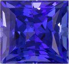 Unusual Princess Cut Tanzanite Loose Gem in Rich Purple Blue, 6 x 5.5 mm, 1.37 carats