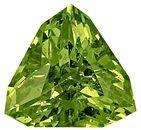 Very Bright, Amazing Cut Beautiful Green Demantoid Garnet Gem, Trillion Cut, 8.3 x 8.2 mm, 2.11 carats