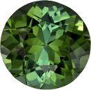 Very Bright Round Cut Green Tourmaline Loose Gem, Rich Grass Green, 6.3 mm, 1.03 carats