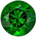 Very Bright Round Cut Tsavorite Loose Gem, Medium Grass Green, 4.9 mm, 0.58 carats