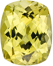 Very Lively Chrysoberyl Gemstone With a Lemony Yellow Color - Great Cut!, Cushion Cut, 3.91 carats