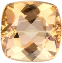 Very Pretty Cushion Cut Topaz Loose Gem, Peach Tinged Gold, 6 mm, 1.12 carats