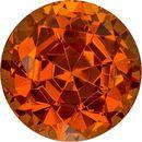 Vibrant Flame Orange Spessartite Loose Nigerian Gem in Round Cut, 6.8 mm, 2.1 Carats