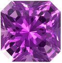Vivid Purplish Pink Sapphire Gem in Asscher Radiant Cut, 5.0 mm, 0.73 carats