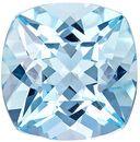 Wonderful Aquamarine Gemstone in Cushion Cut, Medium Blue, 9 x 8.9 mm, 2.7 carats