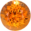 Wonderful Rare Topaz Gemstone in Round Cut, Rich Golden, 9.4 x 9.4 mm, 4.16 carats