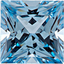 Chatham  Aqua Blue Spinel Princess Cut in Grade GEM