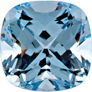Chatham  Aqua Blue Spinel Antique Square Cut in Grade GEM