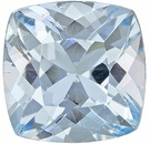 Desirable Aquamarine Loose Gem in Cushion Cut, Intense Pure Blue, 8.2 mm, 2.18 carats - SOLD