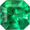 Rich Green Emerald Natural Gemstone Columbia in Square Cut, 6.9 x 6.8 mm, 1.4 Carats