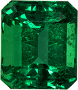 Fiery Emerald Genuine Gem from Brazil in Emerald Cut, 6.5 x 5.7 mm, 1.17 Carats