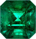 Super Intense Emerald Genuine Gem from Columbia in Emerald Cut, 7.4 x 7 mm, 1.78 Carats