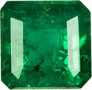 Very Pretty Square Cut Natural Loose Emerald Gem in Rich Green Color, 5 x 4.9 mm, 0.67 carats