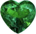Super Lively Columbian Emerald Loose Gem in Unique Heart Cut, Vibrant Green Color, 10.5 x 11.1 mm, 3.89 carats