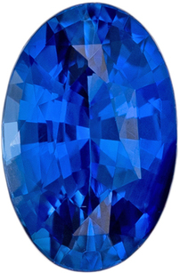 Bright & Lively Genuine Loose Blue Sapphire Gemstone in Oval Cut, 6 x 3.9 mm, Vivid Rich Blue, 0.64 carats