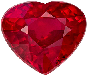Must See Deal Genuine Loose Ruby Gemstone in Heart Cut, 6.2 x 5.4 mm, Pigeons Blood Red, 1.03 carats